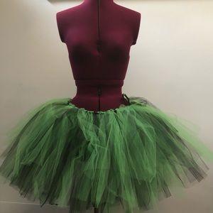 HALLOWEEN COSTUME green and black tutu